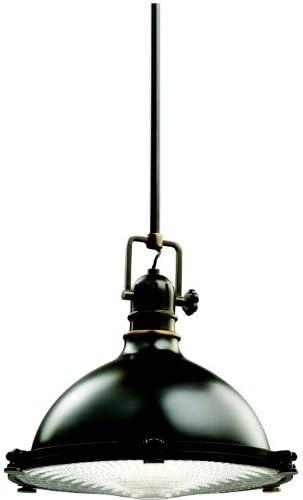Kichler 2666OZ, Pendants Round Pendant, 1 Light, 150 Total Watts, Olde Bronze