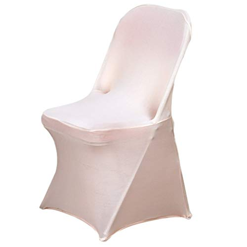 BalsaCircle 10 pcs Blush Spandex Stretchable Banquet Chair Covers for Party Wedding Linens Decorations Dinning Ceremony Reception Supplies]()