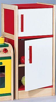 Constructive Playthings KRP-57 Toddler's Dream Play Kitchen Accessories- Refrigerator (Play Refrigerator Wooden)