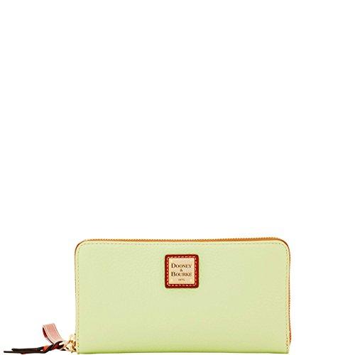 Wallet Dooney Zip Bourke Around (Dooney & Bourke Pebble Grain Lg Zip Around Wallet Wristlet Key Lime)