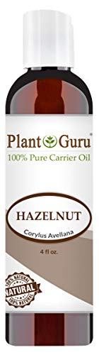 Hazelnut Oil 4 oz Cold Pressed Carrier 100% Pure Natural For Skin, Body, Face, and Hair Growth Moisturizer. Great For Creams, Lotions, Lip balm and Soap Making ()