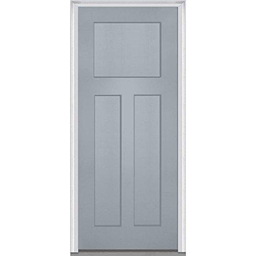 National Door Company Z015526R Fiberglass Smooth Storm Cloud, Right Hand In-swing, Prehung Front Door Craftsman 3-Panel, 32'' x 80'' by National Door Company
