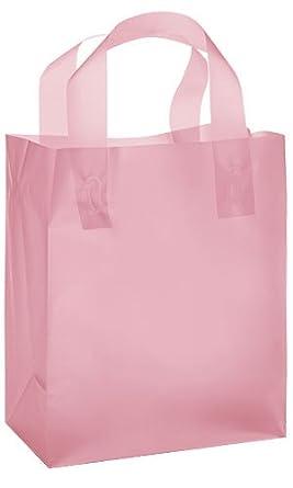 Amazon.com: Nuevo Retails 100 bolsas Medium Rosa bolsa de la ...