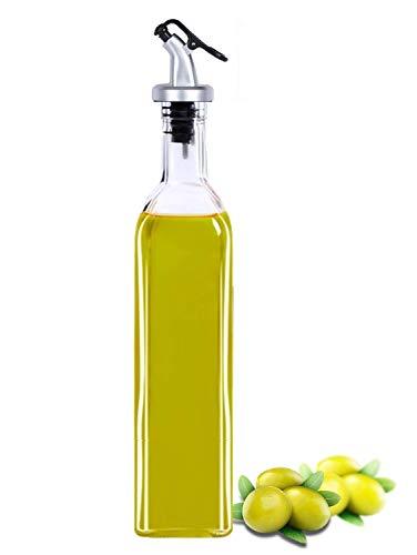 ZOSOE Glass Oil Dispenser Bottle, 500 ML, White, 1 Piece