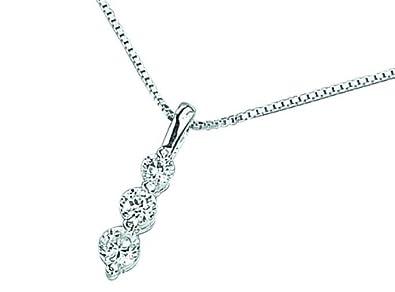 Elements Silver Women's 925 Sterling Silver Diamond Cut Cubic Zirconia Black Teardrop Pendant Curb Chain 9AuzD0sP