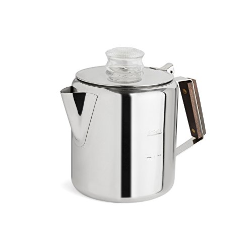 TOPS 55703 Rapid Brew Stainless Steel Stovetop Coffee Percolator, 4.75 x 8 x 6.25 inches, Metallic