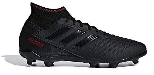 adidas Predator 19.3 FG Football Boots - Adult - Black/Black/Red - UK Shoe Size 9