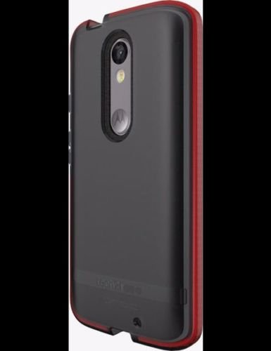 Tech21 Evo Shell Ultra Thin Shock Absorbing Case for Motorola Droid Turbo 2 - Smokey Red in Retail Package (Droid Turbo Tech 21)