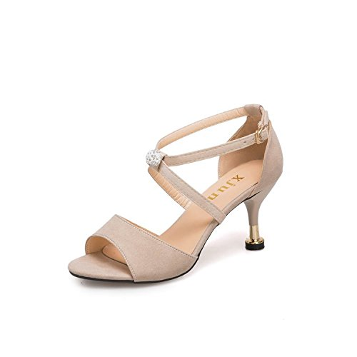 Sauvages Chaussures 7cm Femmes De talons Cravates Hauts lgant L't Gtvernh Abricot 37 Slim Mare Et Les qwnXa0Pt