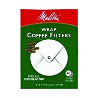 Melitta USA Inc 627402 White Wrap Coffee Filter 40 Filtros