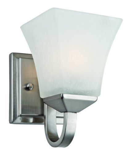 Design House 514745 Torino 1 Light Wall Light, Satin (Boutique Mini Chandeliers Light)