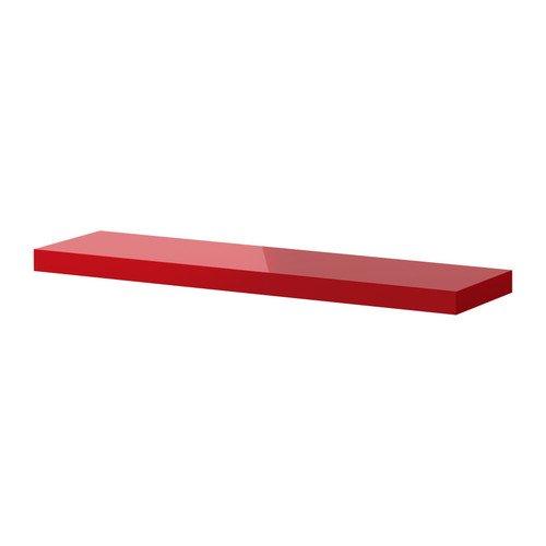 IKEA LACK   Wall shelf, high gloss red   110x26 cm: Amazon.co.uk