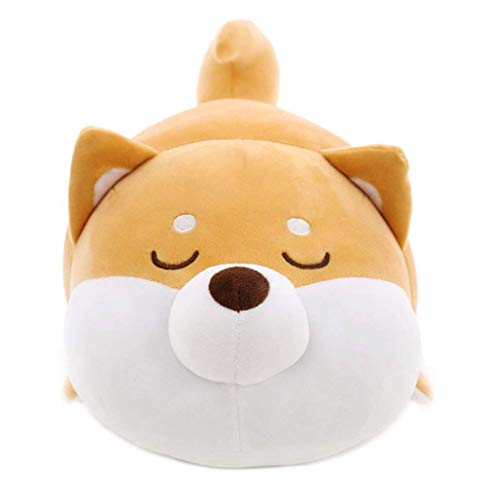 (Auspicious beginning Shiba Inu Plush Throw Pillow Cute Corgi Akita Stuffed Animal Soft Plush Doll Dog Kawaii Plush Toy (Brown 2, 15 Inch))