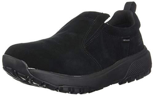 Skechers Women's Outdoors Ultra Waterproof Slip On Shoe Black 7.5 Medium US (Best Waterproof Walking Shoes Womens)