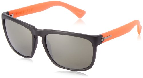 Electric Silver Sunglasses - Electric Visual Knoxville XL Mod Warm Red/OHM Grey Silver Chrome Sunglasses