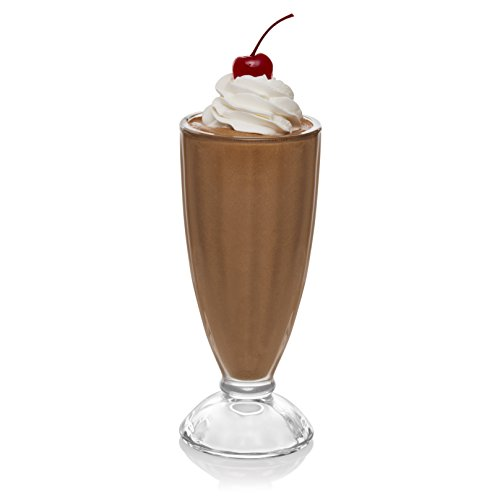 Libbey Fountain Shoppe Milkshake Glasses, Set of - Glass Float