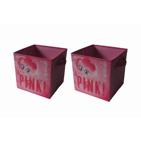 (Your Child Will Love to Put Away Toys,Clothes and Books with My Little Pony Movie 2 Pack Collapsible Storage Cubes,Great Addition to Your Childs Room,Play Room,Living Room or Basement)