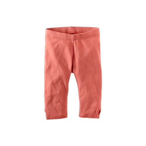 Tea Collection Little Girls' Coral Pink Pedal Pushers Pant