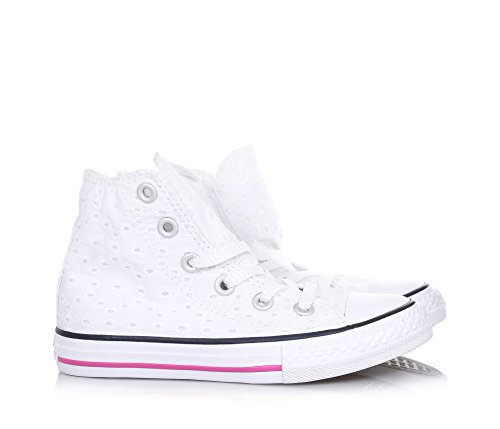 magenta Tela Alta Glow Chuck Converse Taylor White Bambina Sneaker navy Hi xHOT7wRUq