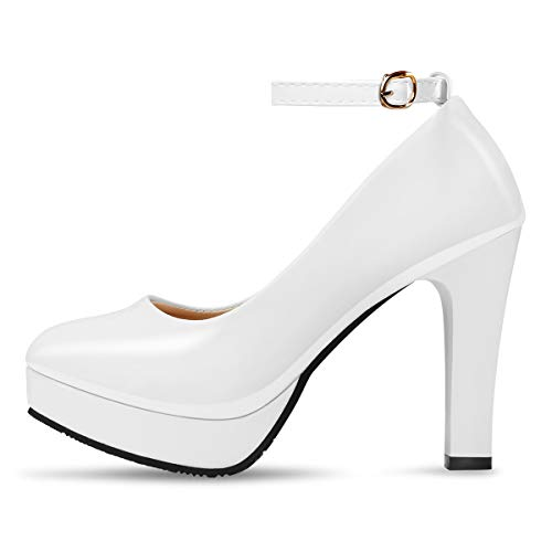 Vestir Padgene Zapatos Piel De Blanco Otra Mujer BPRgaxqP