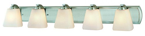 - Dolan Designs 3375-09 5Lt Bath Satin Nickel Hammond 5 Light Bathroom Fixture,