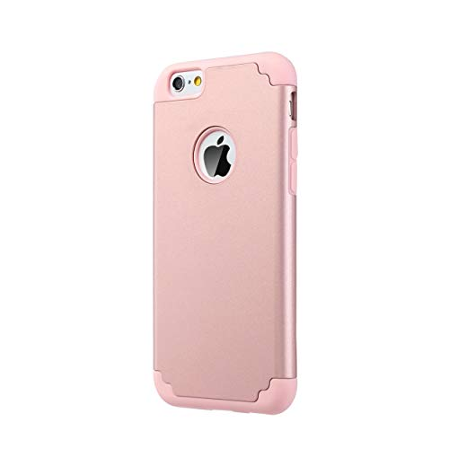 AILUN Phone Case for iPhone 6s iPhone 6,Soft Interior Silicone Bumper&Hard Shell Solid PC Back,Shock-Absorption&Skid-Proof,Anti-Scratch Hybrid Dual-Layer Slim Cover[Rosegold]