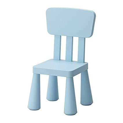 IKEA MAMMUT Childrenu0027s Chair, Light Blue Indoor/outdoor