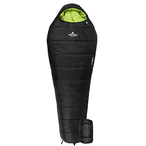 TETON Sports LEEF Lightweight Adult Mummy Sleeping Bag; Great for