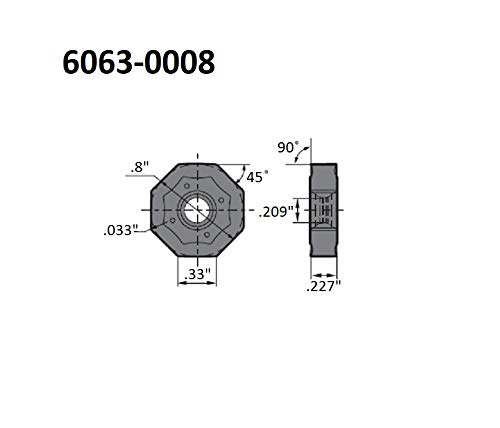 3//8 I 2.50 Screw Pitch C HHIP 6006-3010 External Threading and Grooving Carbide Insert
