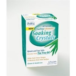 (Pedifix Tea Tree Ultimates Soaking Crystals Foot Bath 6 Packets, 1 Ounce each (Value Pack of 3))