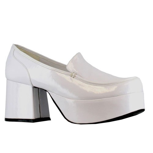Mens White Daddio Pimp Shoes Halloween Small (sizes 8-9) for $<!--$42.61-->