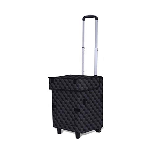 Folding Trolley Bag Fashion Portable Trolley Car Grocery Shopping Small Cart Light Luggage Shopping Bag (Color : T2, Size : - Bag T2 Cart