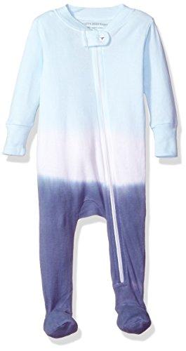 Burt's Bees Baby Organic Zip Front Sleeper, Blue Smoke Dip Dye, 6-9 Months