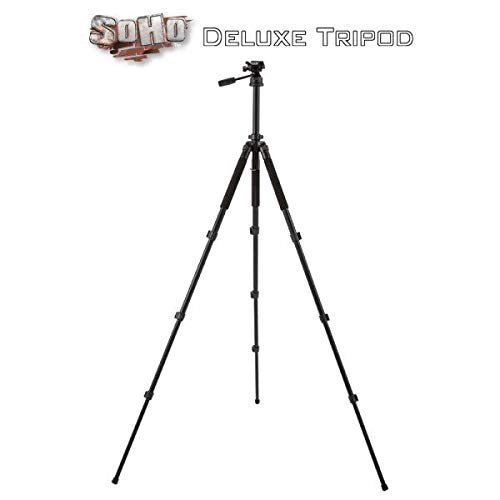 Soho Urban Artist Aluminum Tripod for Camera and Pochade Box - Multi Use & Customizable Heavy Duty Lightweight for Tight Spaces, Odd Angles & Windy Conditions Compact w/Nylon Carrying ()
