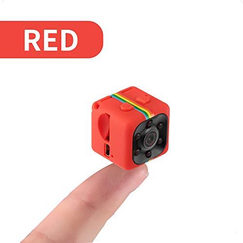 Mini Camera, 1080P Surveillance Cameras, Small HD Sport Cameras, with Motion Detection IR Night Vision for Car DVR/Home Security Surveillance,Red