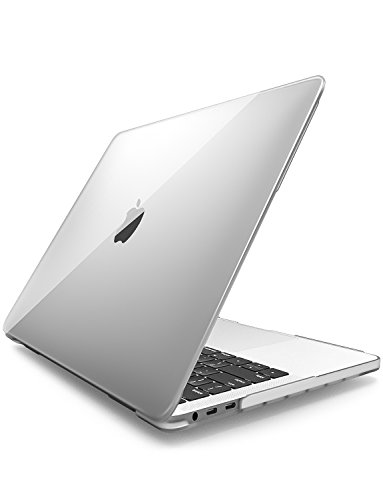 noximi MacBook Pro 13 Case 2018 2017 2016 Release A1989/A1706/A1708, Soft Touch Plastic Hard Case for Apple MacBook Pro 13 Inch with/Without Touch Bar and Touch ID (Clear)
