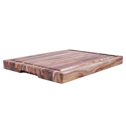 EXTRA LARGE Acacia Cutting Board & Butcher Block w/Juice Drip Groove – 15.75x11.8x1.25inches