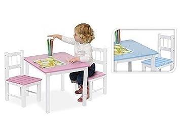 Table bleue pour activite manuel dessin travail et devoir pour