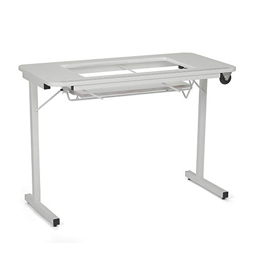 Folding Sewing Table (Arrow Sewing Cabinet Gidget II Portable Sewing Table - White)