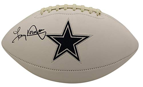 Tony Dorsett Autographed/Signed Dallas Cowboys White Logo Football BAS -