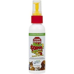 Ultra-Bitter Training Aid Spray – Chewing, Biting, Licking Deterrent for Dogs, Cats, Horses, Rabbits, Ferrets, Birds - Safe for Pet's Skin – Can Also Protect Garden from Deer and Pests (4 oz.)