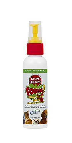 Ultra-Bitter Training Aid Spray - Chewing, Biting, Licking Deterrent for Dogs, Cats, Horses, Rabbits, Ferrets, Birds - Safe for Pets Skin - Can Also Protect Garden from Deer and Pests (4 oz.)
