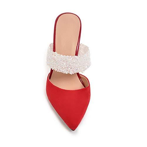 Compensées Femme Red Sandales Asl05787 Balamasa fExqvW