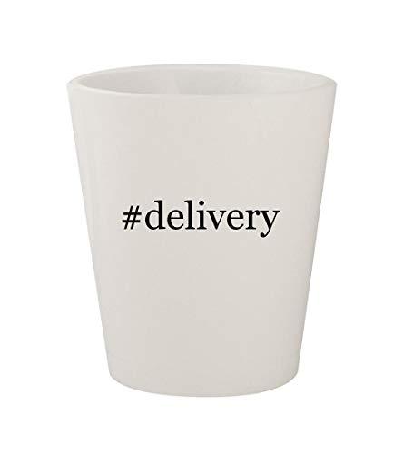 #delivery - Ceramic White Hashtag 1.5oz Shot Glass