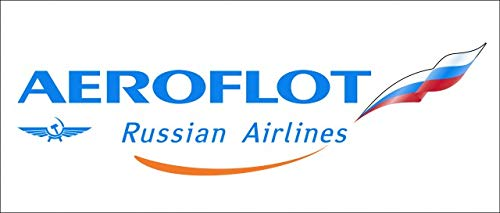 AEROFLOT Russian Airlines Sticker 1Packs 1PC Rare, Exclusive, Collectible & Waterproof!! Laptop Travel Suitcase Decal Sticker for Luggage (About 20 x 8.8CM (7.87