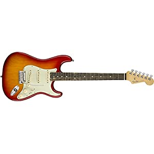 Fender American Elite Stratocaster Ebony Fingerboard Electric Guitar Aged Cherry Burst