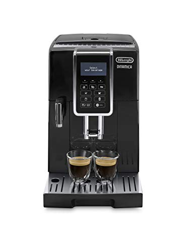De'longhi Dinamica Ecam350.15.B – Cafetera superautomática, 1450w, panel control intuitivo táctil lcd, dispositivo de…
