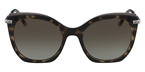 Óculos Ck Ck1238S 214 Tartaruga Ouro Lente Marrom Flash Degradê Tam 53
