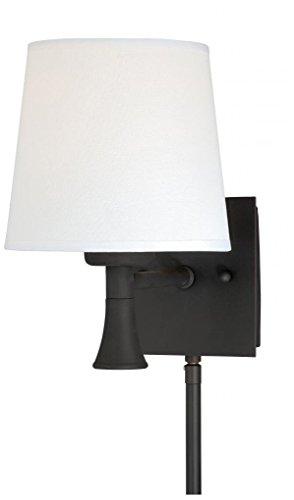 Vaxcel W0180 Chapeau Smart Lighting Indoor Wall Light, New Bronze Finish