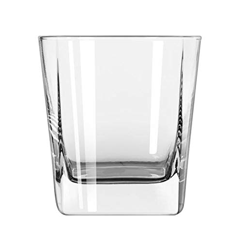 (Libbey 2207 9.25-oz Double Old Fashioned Glass - Quartet, Square Base)